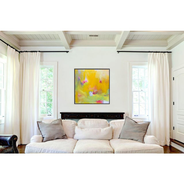 """Canvas """"West Wind"""" by Trixie Pitts Abstract Expressionist Oil Painting For Sale - Image 7 of 13"""