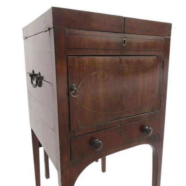 English English Mahogany Enclosed Lift Top Dressing Stand For Sale - Image 3 of 10
