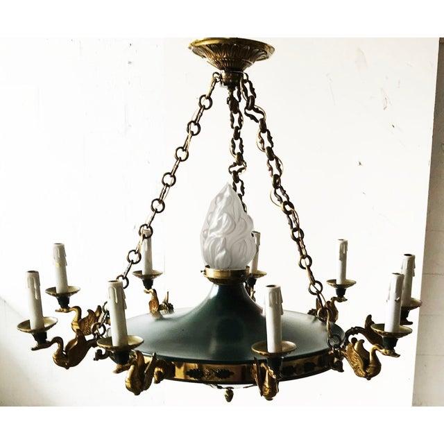 Vintage Huge Eleven-Light 1st French Empire Chandelier For Sale - Image 10 of 10