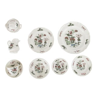 Wedgwood Mandarin China Complete Place Setting for 12 - 86 Piece Set For Sale