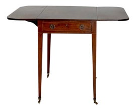 Image of Mahogany Drop-Leaf and Pembroke Tables