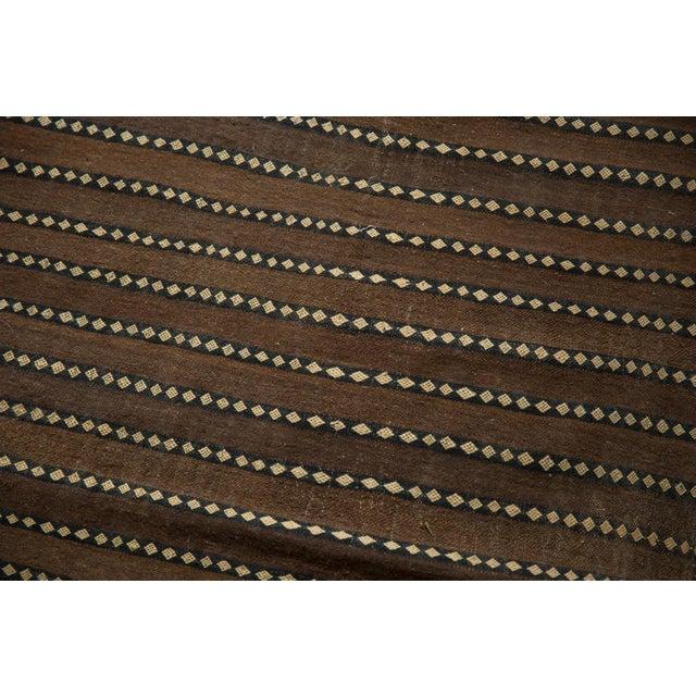 "Chocolate Vintage Moroccan Kilim Rug Runner - 5' X 11'7"" For Sale - Image 8 of 13"