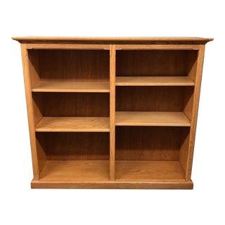 Solid Oak Double Bookshelf