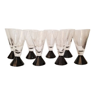 1940s Art Deco Glasses - Set of 8 For Sale