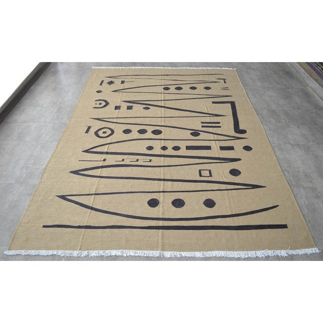 2010s Paul Klee - Heroic Strokes of the Bow - Inspired Silk Hand Woven Area - Wall Rug 5′11″ × 8′5″ For Sale - Image 5 of 12