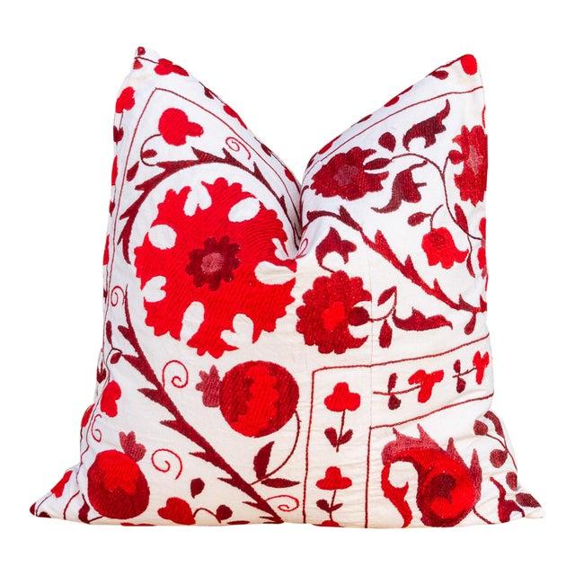 Rakti Royal Red Suzani Pillow For Sale
