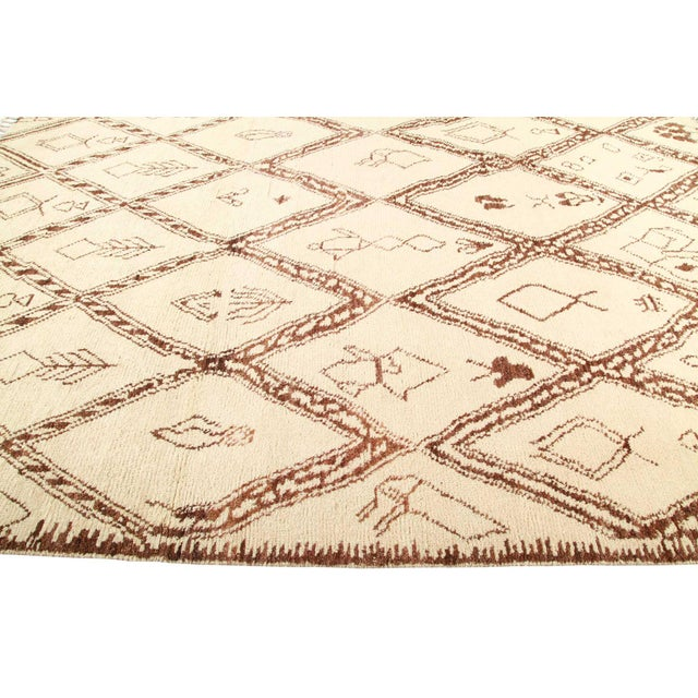 """Moroccan Bohemian Hand-Knotted Area Rug 8' 1"""" x 10' 4"""" For Sale - Image 3 of 8"""