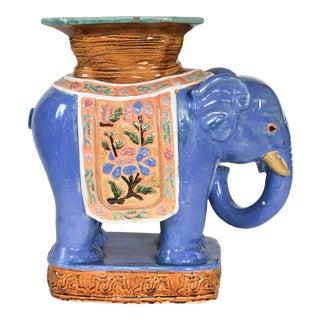 Large Vintage Elephant Garden Stool For Sale