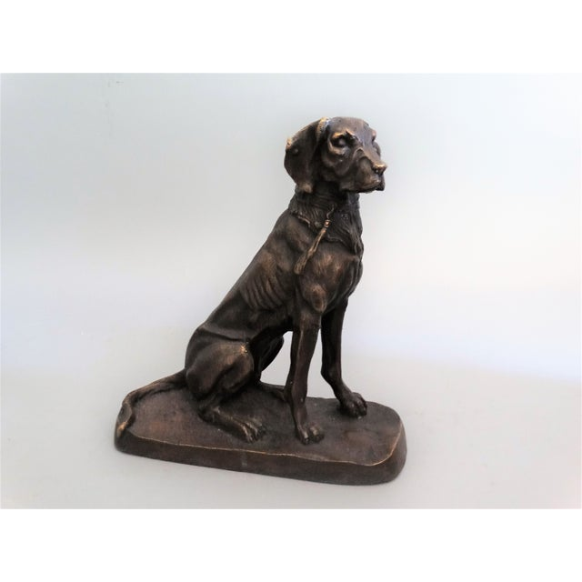 Gold Early French Bronze Sporting Dog For Sale - Image 8 of 8