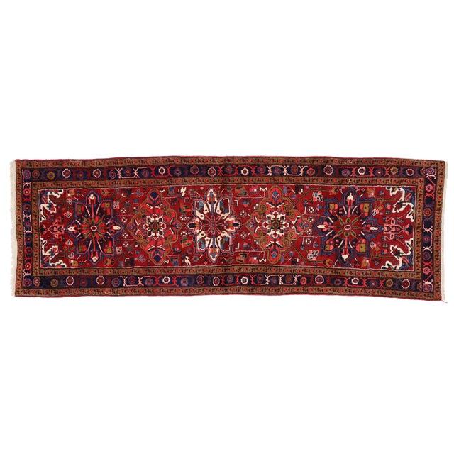 "Vintage Persian Heriz Runner - 3'9"" X 11'6"" For Sale"