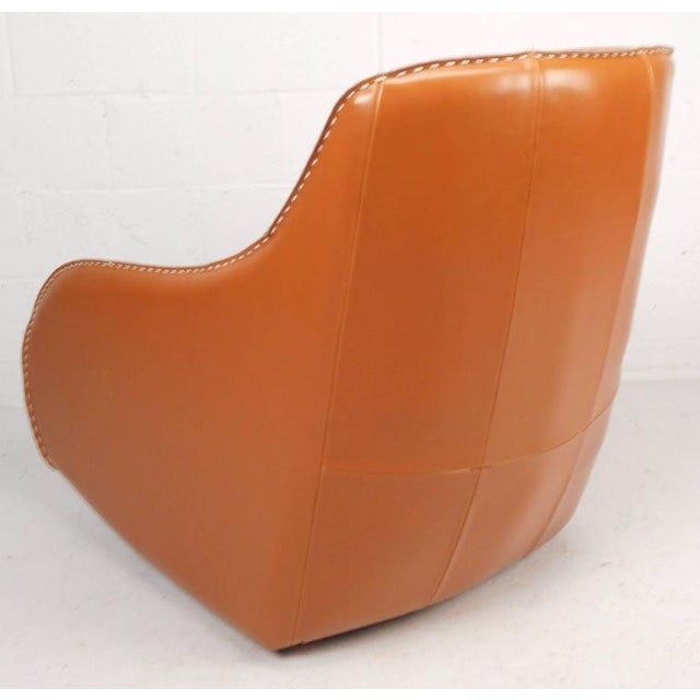 Contemporary Modern Leather Rocking Chair - Image 5 of 8