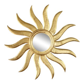 Extra Large Early 20th Century French Sunburst Mirror For Sale