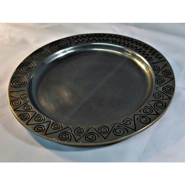 Wilton Co. Pewter Decorative Tray - Image 4 of 5