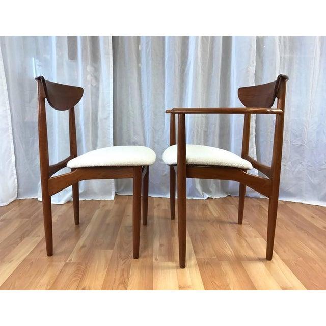 Set of 7 Uncommon Hvidt and Mølgaard-Nielsen Teak Dining Chairs for Søborg Møbelfabrik - Image 5 of 10