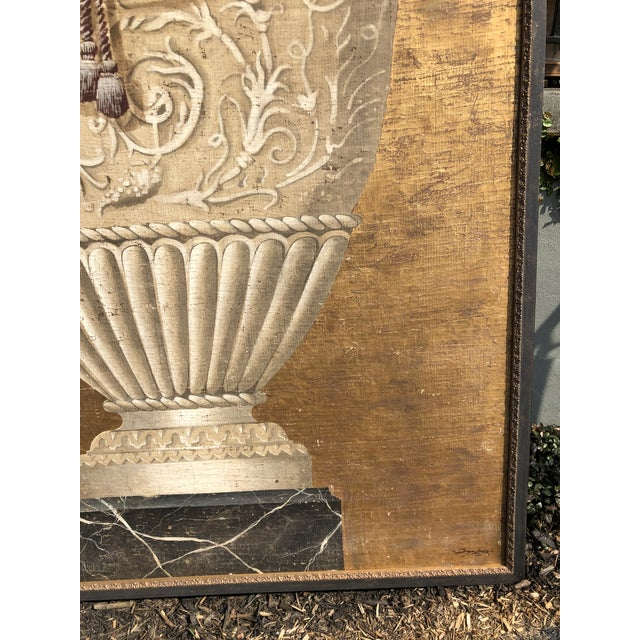 Large Jacques Lamy Urn Painting For Sale In Atlanta - Image 6 of 13