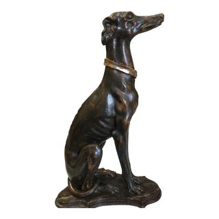 Italian Gilt Wood Whippet For Sale