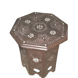 Syrian Boho Chic Side Table For Sale