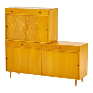 Set of Two Blonde Wood Cabinets in the Style of Paul McCobb, c. 1960