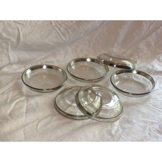 Dorothy Thorpe Silver Rim Plates - Set of 6 - Image 2 of 6