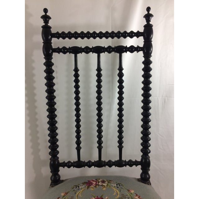 Napoleon Ebonized Spindle Chair For Sale - Image 6 of 9