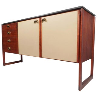 Mid-Century Modern Marble Top Sideboard by Jens Risom For Sale
