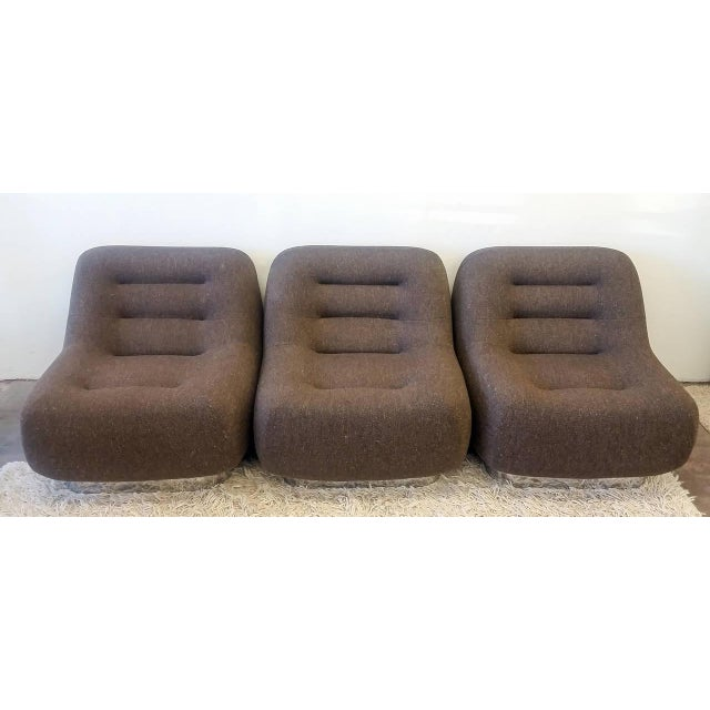 Chrome 1970s M. F. Harty for Stow Davis Tomorrow Sofa Chairs and Table Suite - Set of 4 For Sale - Image 7 of 11