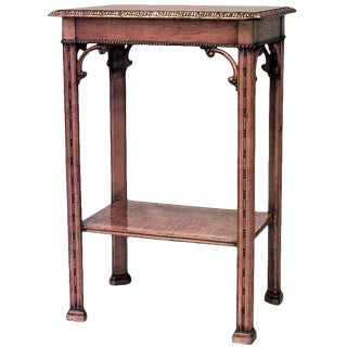 English Victorian Chinese Chippendale End Table For Sale