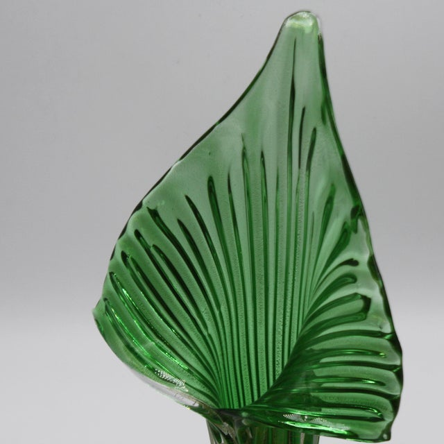 Archimede Seguso Archimede Seguso Jack-In-The-Pulpit Vase With 24k Gold Inclusions, C. 1950 For Sale - Image 4 of 8