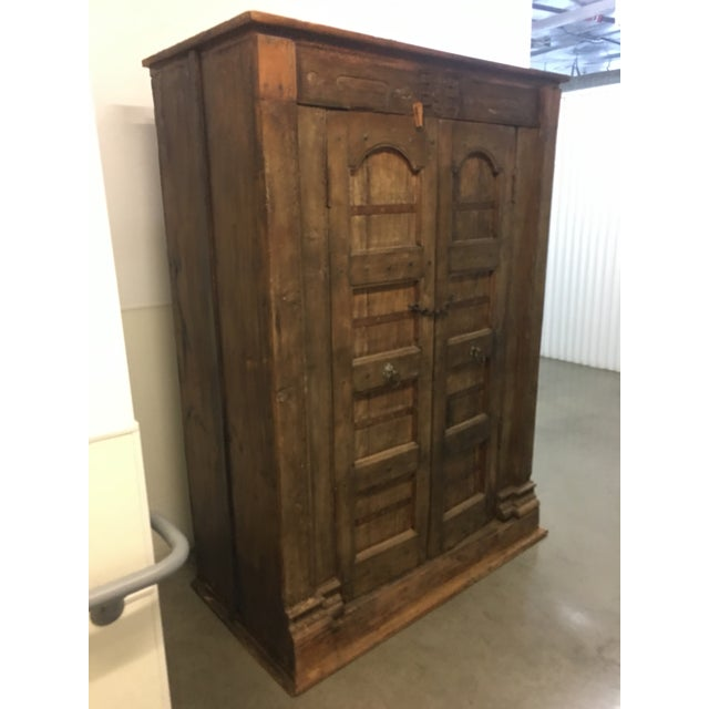 Handmade Antique Wooden Armoire - Image 6 of 9