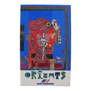 1980 Original Air France Travel Poster, Orient For Sale