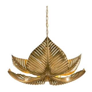 Large Palm Pendant Light For Sale
