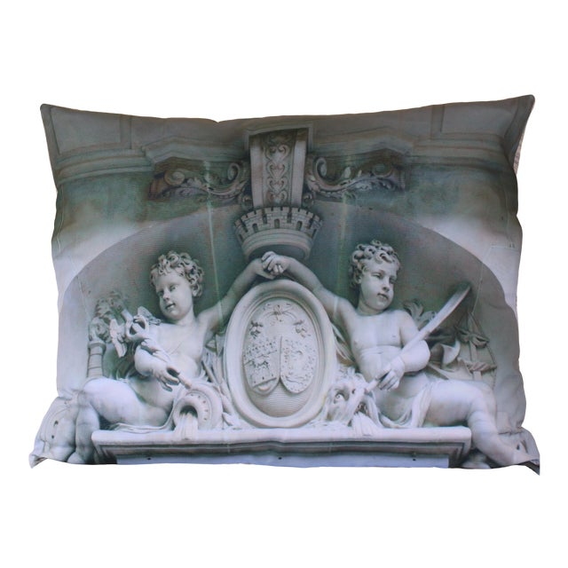 Architecture Photo Marble Overdoor Pillow For Sale