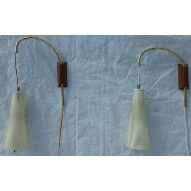 Mid-Century Counterweight Wall Sconces - A Pair - Image 3 of 11