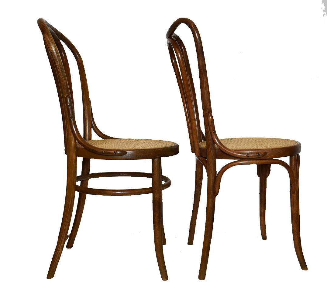 Antique Bentwood Chairs In The Style Of Michael Thonet Or Fischer  A Pair    Image