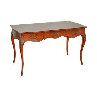 Italian Burl Wood Louis XV Style Writing Desk