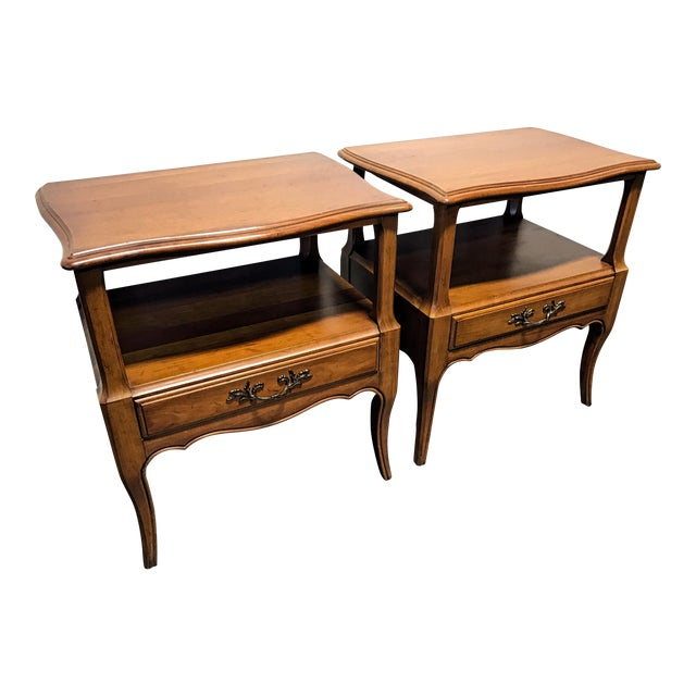 Davis Cabinet Co French Provincial Nightstands - A Pair - Image 1 of 11