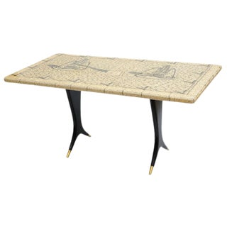 Piero Fornasetti Piazza Con Obelischi Coffee Table For Sale