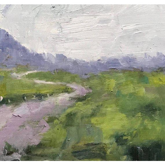 """Farmhouse """"Fence in the Road"""" Oil Landscape Painting For Sale - Image 3 of 7"""