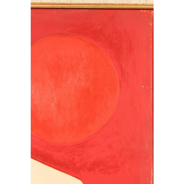 1970s Abstract Painting by Antonio Guanse For Sale - Image 5 of 13