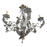Image of Vintage Italian Wrought Iron Chandelier For Sale