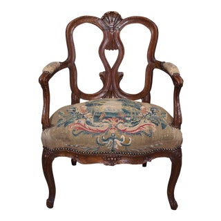 Early 18th century Italian Armchair with Tapestry Seat