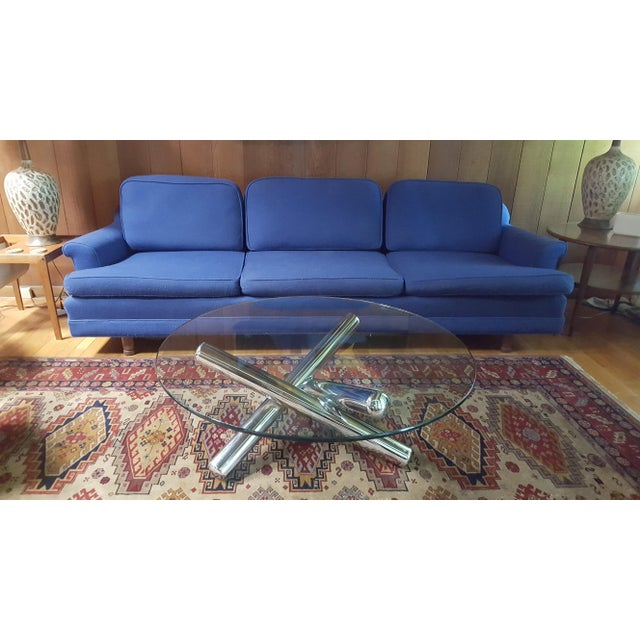 Milo Baughman Milo Baughman Style Chrome and Glass Jax Style Coffee Table For Sale - Image 4 of 13