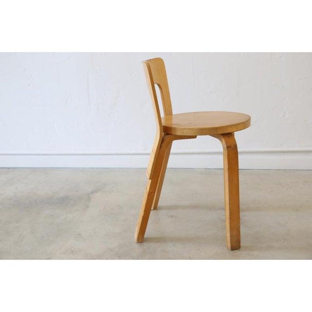 Alvar Aalto for Artek Birchwood Chair 65 For Sale In Miami - Image 6 of 8