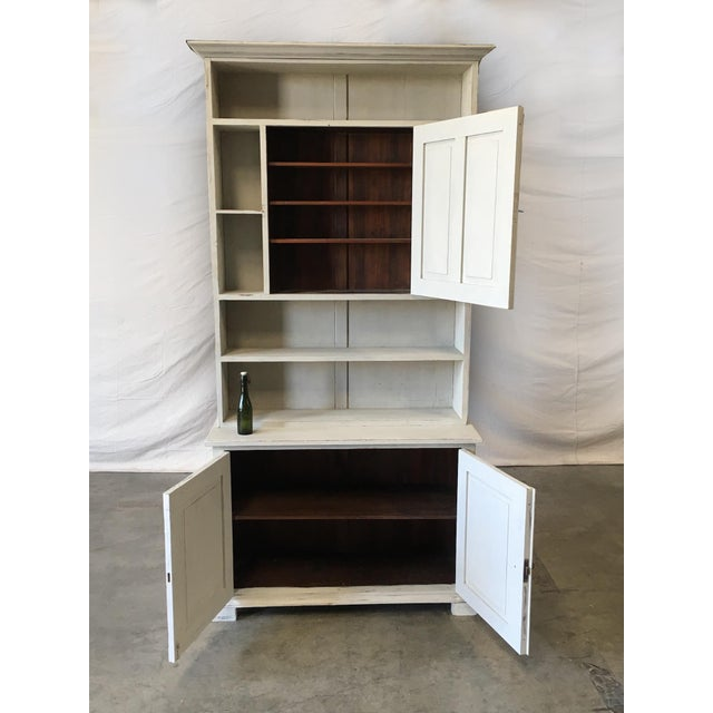 Swedish Antique Wall Bookcase Cabinet For Sale - Image 5 of 8