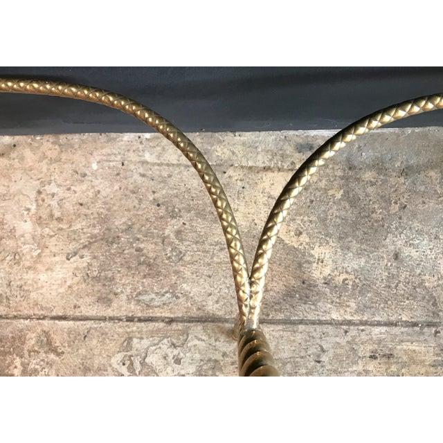 Console Table With Marble Top and Brass Legs, Italy 1940s For Sale - Image 11 of 13