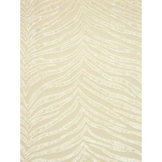 Sample, Scalamandre Samburu, Parchment Fabric For Sale