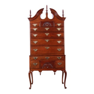 Councill Queen Anne Mahogany Highboy Dresser For Sale