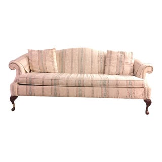 Antique Queen Anne Camelback Mahogany Sofa For Sale