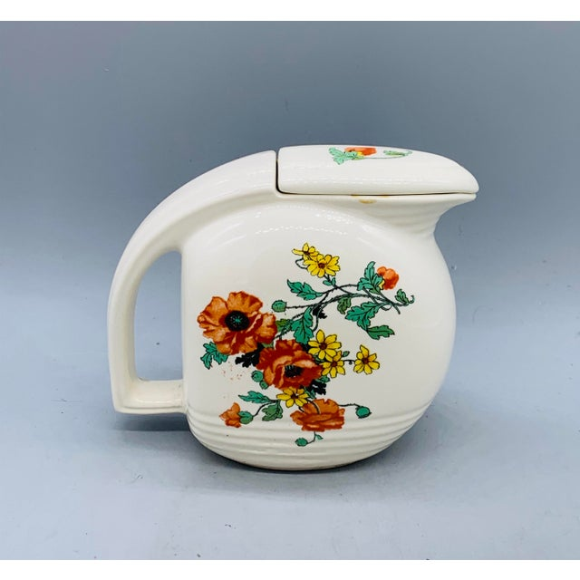 Farmhouse 1940s Viktor Schreckengost Designed Floral Jiffy Ware Pitcher For Sale - Image 3 of 13