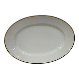 Italian Oval Platter Gilt Rim by Ginori For Sale